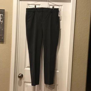J.crew Ruby pants. Cropped NWT gray size 12